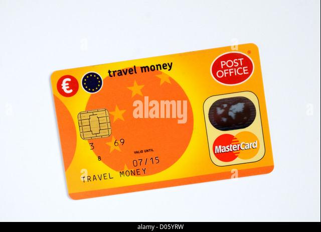 A Post Office travel money card - Stock-Bilder