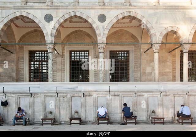 Men ablutions, New Mosque, Istanbul - Stock-Bilder