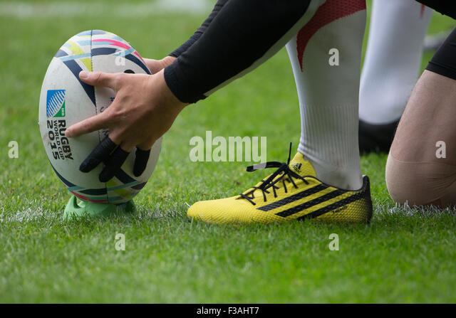 Stadium MK, Milton Keynes, UK. 3rd Oct 2015. Rugby World Cup 2015 Match 24 - Samoa V Japan. Credit:  Chris Yates/Alamy - Stock-Bilder