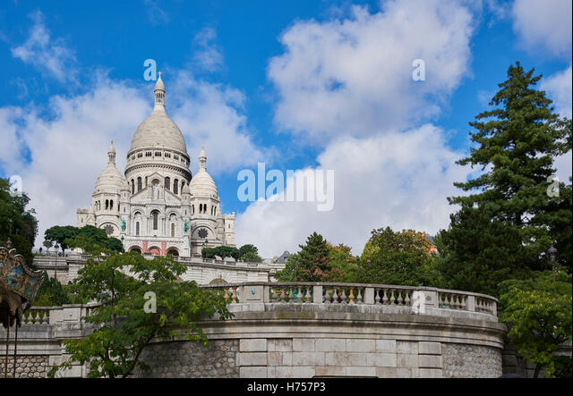 Sacre Coure Church, Paris, France - Stock Image