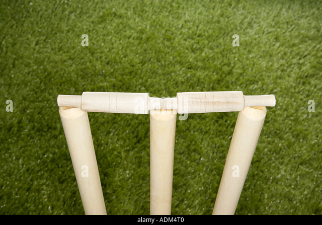 Cricket stumps - Stock Image