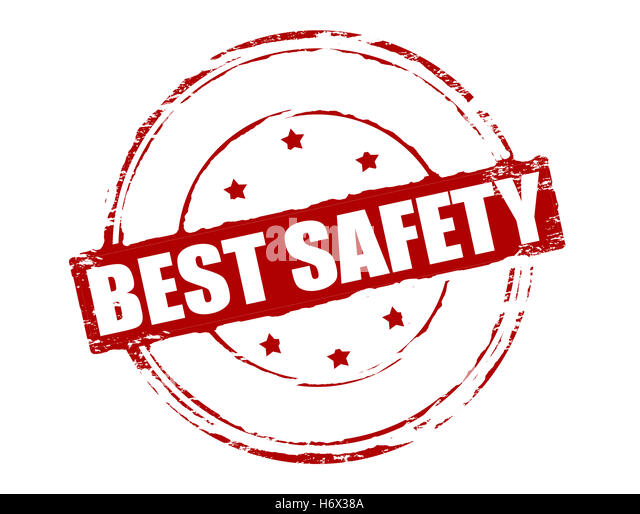 Rubber stamp with text best safety inside, vector illustration - Stock Image