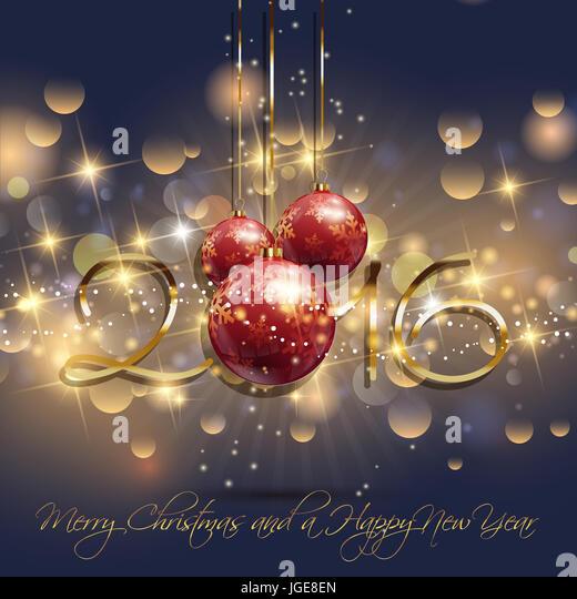 Decorative Happy New Year background - Stock Image