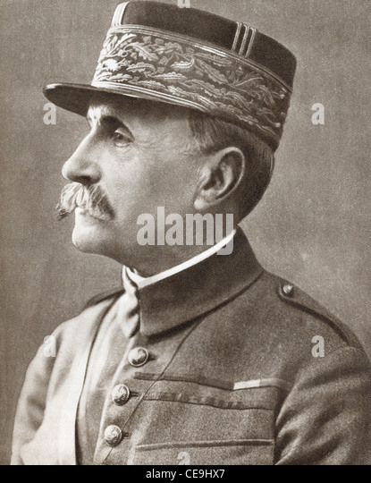 Ferdinand Foch, 1851 –1929. French soldier, military theorist, and First World War hero. - Stock Image
