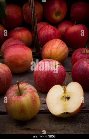 Red apples, sort Gala - Stock Image