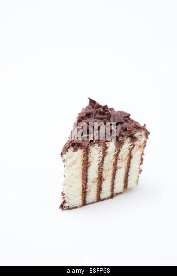 Slice of Chocolate cake - Stock-Bilder