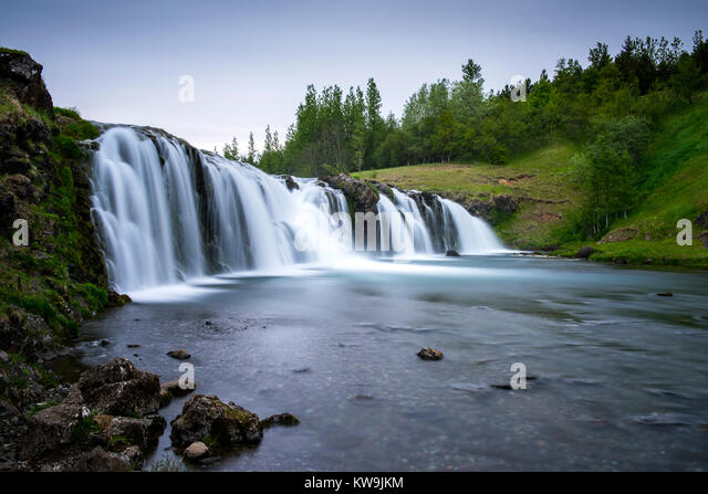 Iceland Waterfall - Stock Image