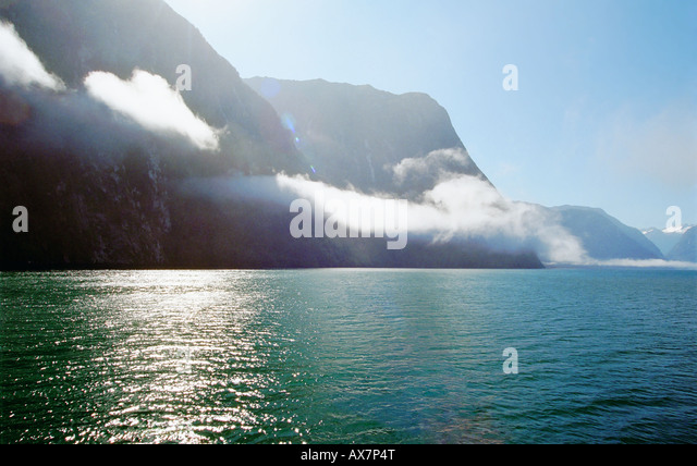 milford sound mist - Stock Image