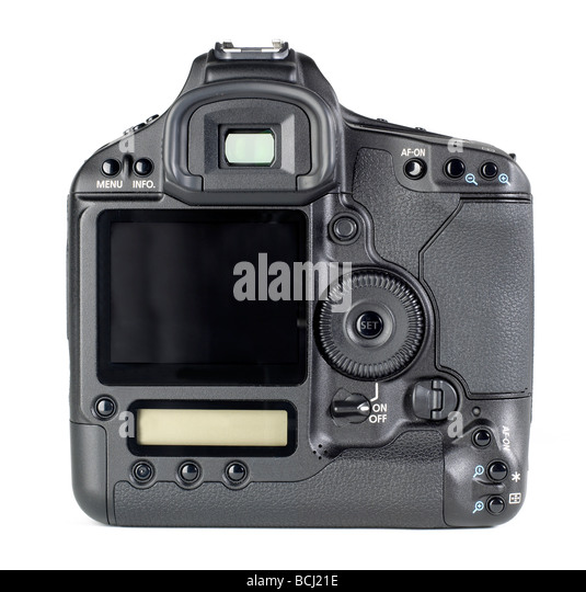 35mm DSLR camera body back digital Format - Stock Image