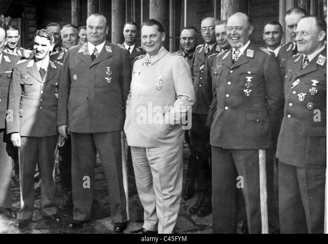 Hermann Goering with his staff - Stock Image