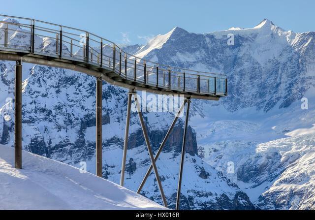 First, Cliff Walk, Grindelwald, Berne, Switzerland, Europe - Stock-Bilder