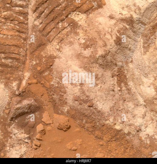 Churned-Up Rocky Debris and Dust - Stock Image