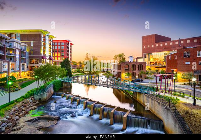 Greenville, South Carolina town cityscape - Stock-Bilder