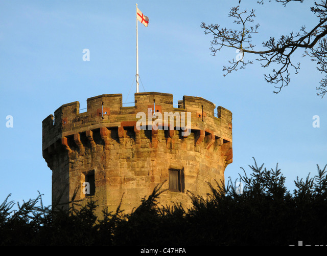 Guy's Tower, Warwick Castle, Warwick, Warwickshire, England - Stock Image