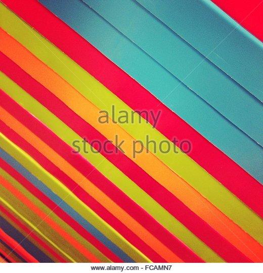 Full Frame Shot Of Multi Colored Wooden Panels - Stock-Bilder