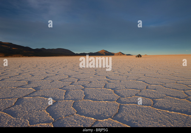 the Salar de Uyuni, Bolivia - Stock Image