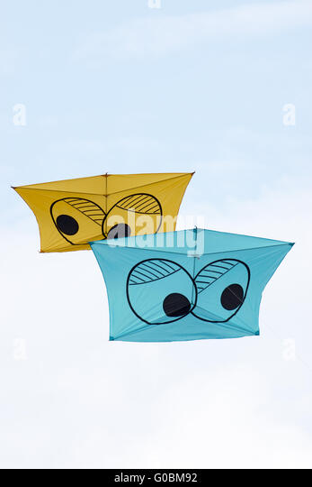 Kites on a kite-festival - Stock Image
