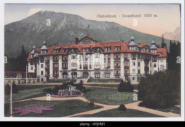 Grandhotel, Starý Smokovec, Ótátrafüred, High Tatras, Slovakia - Stock Image
