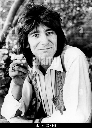 rolling stones, ron wood, 70' - Stock Image