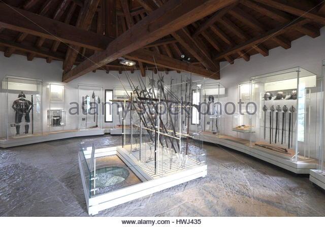 Italy, Trentino Alto Adige, Rovereto, interior of the war museum, Museo Storico della Guerra - Stock Image