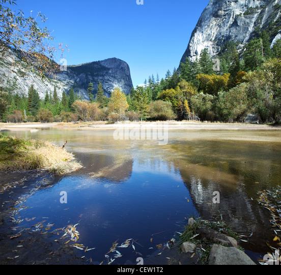 Mirror lake in Yosemite National Park,USA - Stock-Bilder