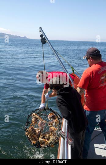 Crab fishing boat stock photos crab fishing boat stock for Crab fishing oregon