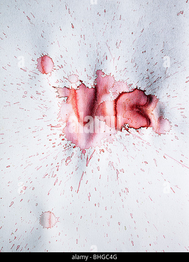 Splash of watercolour paint - Stock Image