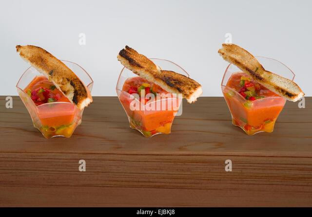Entrée Spaniard Gazpacho - Stock Image