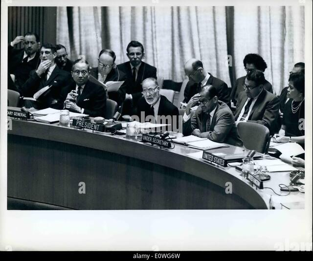 Sep. 09, 1962 - General Committee Recommends Inclusion Of 93 Items In General Assembly's Agenda: The general - Stock Image