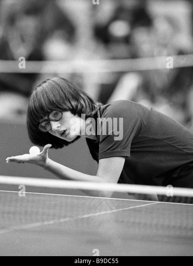 Member of the Soviet table tennis team Inna Kovalenko - Stock Image