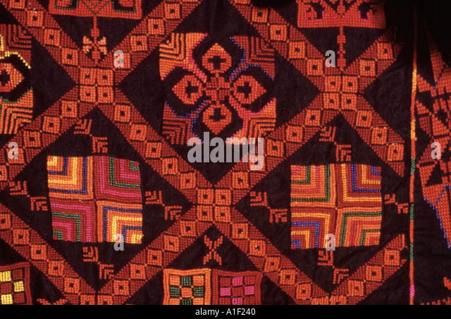 Woven textile made by Bedouin women in Sinai - Stock Image