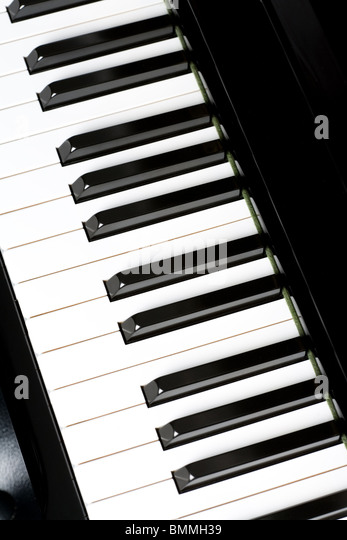 Piano Key close up shot - Stock Image
