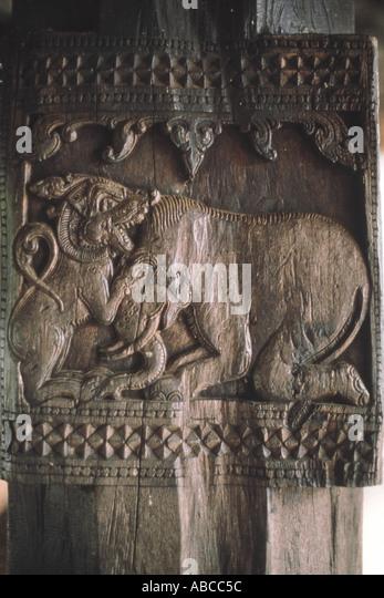 Sri lanka kandy embekke devale stock photos