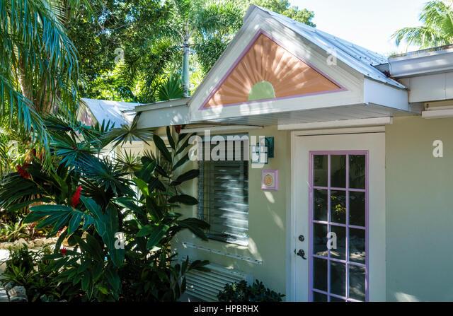 Key Largo Florida Upper Florida Keys Kona Kai Resort Gallery and Botanic Gardens hotel guest cottage - Stock Image