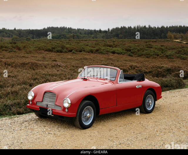 1952 Aston Martin DB2 3 0 litre drophead coupe Light alloy bodywork Country of origin United Kingdom - Stock Image