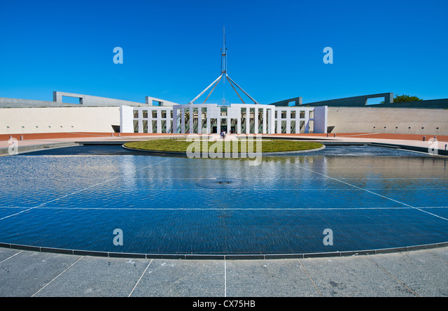 Australia's House of Parliament in Canberra. - Stock Image
