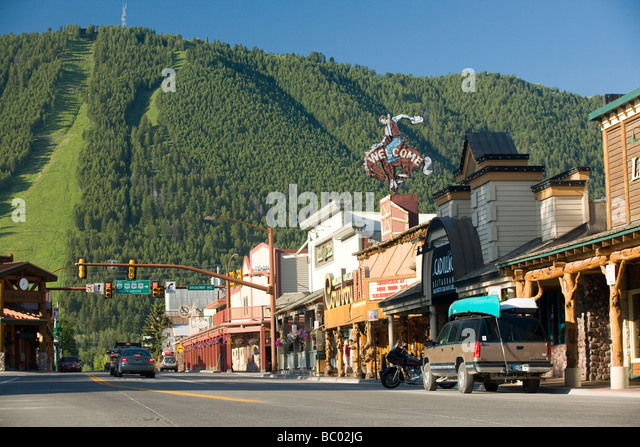 Jackson wyoming town stock photos jackson wyoming town for Towns near jackson hole wyoming