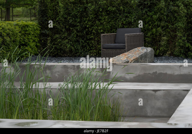 Sunken garden pond uk stock photos sunken garden pond uk for Landscape rock quarry alberta
