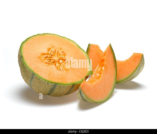 Cantaloupe Melon - Stock Image