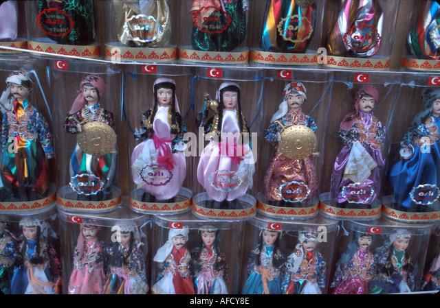 Turkey Aegean Coast Kusadasi Ottoman Empire influenced dolls for sale - Stock Image