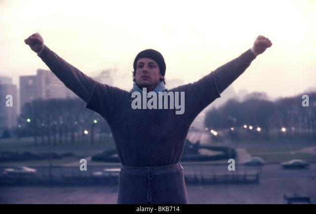 ROCKY -1976 SYLVESTER STALLONE - Stock Image