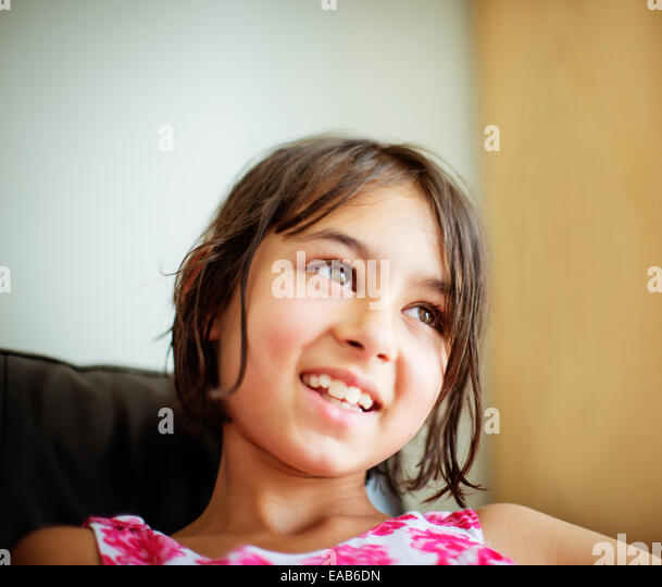 Smiling girl portrait - Stock-Bilder
