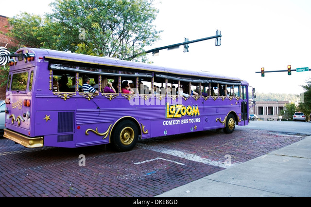 Lazoom La Zoom comedy tour bus in Asheville, North Carolina - Stock Image