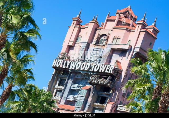 Hollywood Tower Hotel, Hollywood Studios Disney World, Orlando Florida - Stock Image