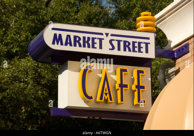 Orlando Florida  Thornton Park Central Avenue Market Street Cafe - Stock Image