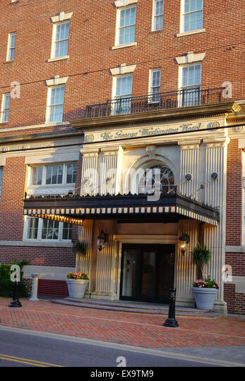 The George Washington Hotel, a venerable hostelry situated in the Old Town section of Winchester, Virginia - Stock Image