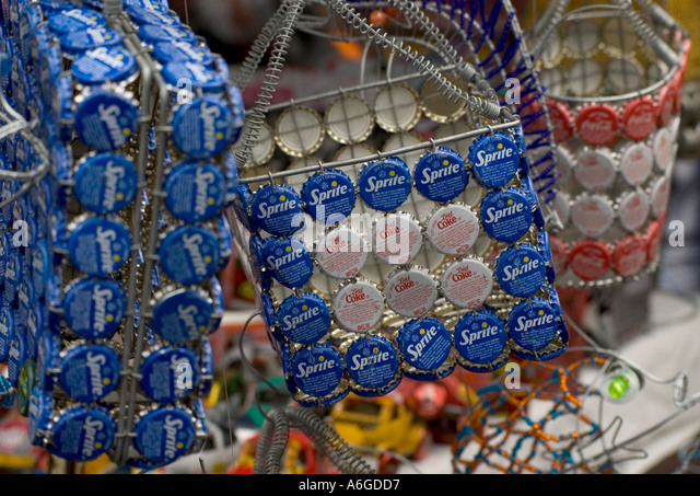 South Africa Cape Peninsula Cape Town downtown Greenmarket square african market arts and crafts - Stock-Bilder