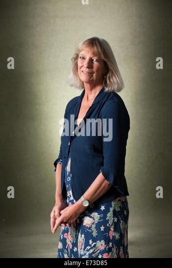 Lucy Angela Hughes-Hallett , author, cultural historian and biographer at the Edinburgh International Book Festival - Stock Image
