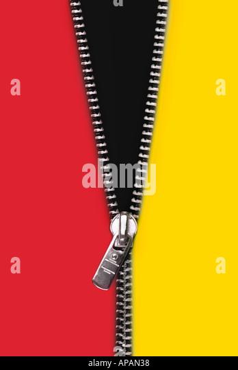 zipper Reissverschluss - Stock Image