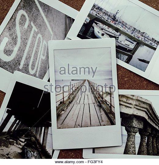 Polaroid Photos - Stock Image